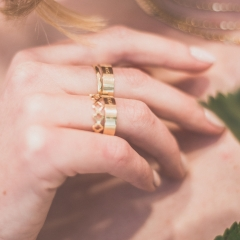 Ring Stacking in Gold.