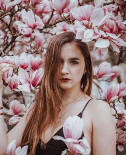 Magnolien, Josemma Lookbook, Fotoshooting, Magnolien Shooting, Rosa, Pastel