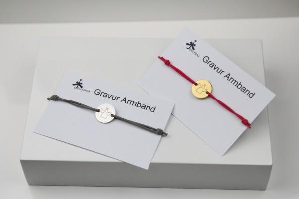 Schutzengel Gravur Armband