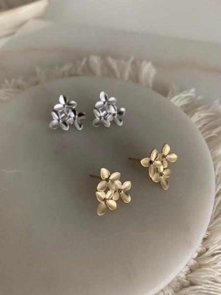 Kirschblüten Ohrstecker Gold Silber