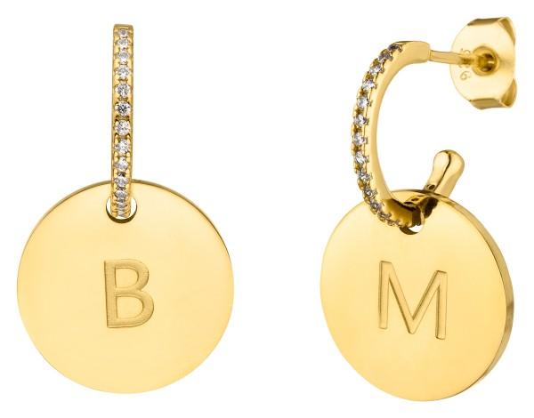 Münzen Ohrringe mit Gravur