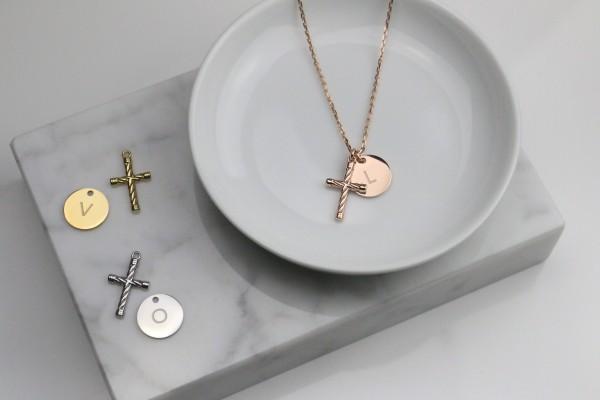 Initial Kreuz Kette