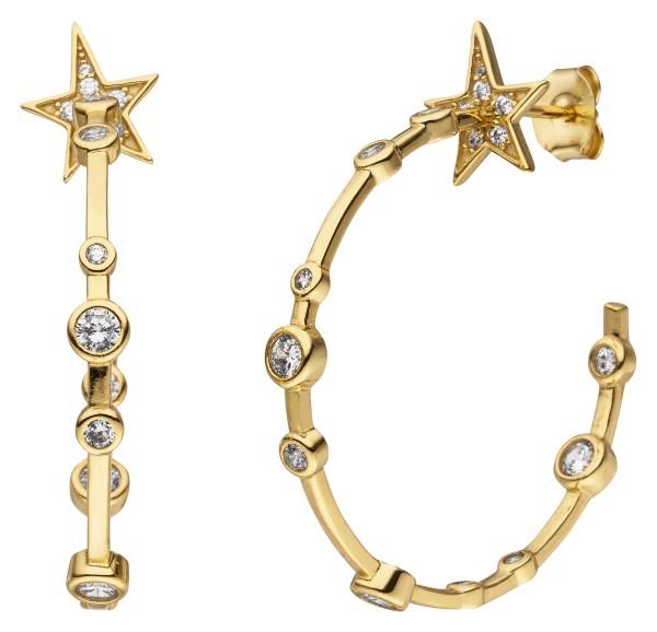 Starlet Hoops Sternen Ohrringe