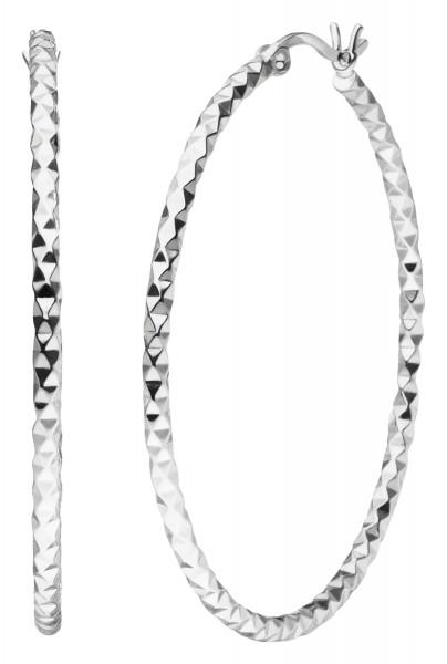 Diamond Silber Creolen