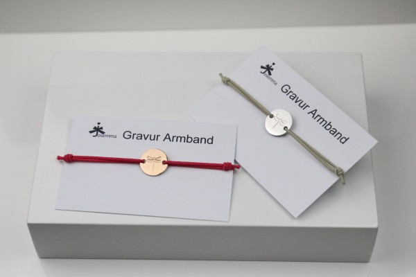 Libellen Gravur Armband