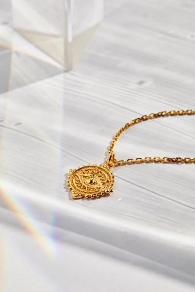 Boho Eye Medallion Kette