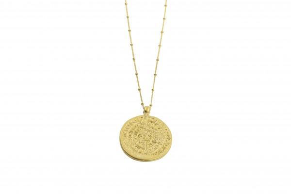 vergoldete Münzkette