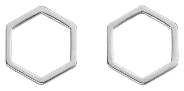 Geometrics Hexagon Ohrstecker