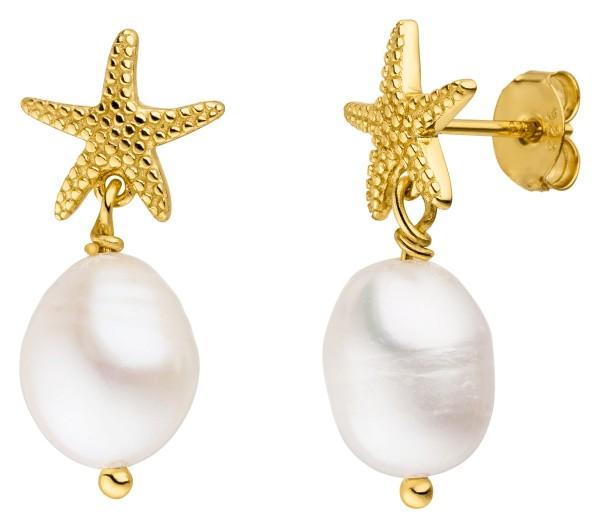Seestern Perlen Ohrringe