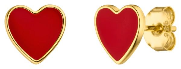 red Heart Ohrstecker